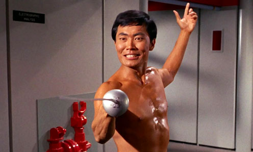 The Naked Time Sulu with a Sword